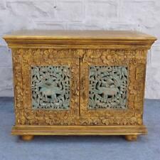 Antique Indian Jali Hand Carved Cabinet Small TV unit entertainment plasma 80cm