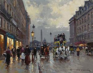 Edouard Leon Cortes Evening Paris Canvas Print 16 x 20    # 6140