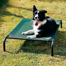 Medium Green Coolaroo Elevated Pet Dog Cot Bed Breathable Cool Knitted Fabric