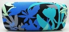 Vera Bradley Sunglasses Case CAMOFLORAL BLUE Pattern Large Hard Shell Case NEW
