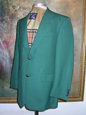 BURBERRY Wool JACKET 38 Regular Blazer 2 Button Sport Coat Outerwear Green Suit