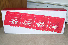 JC Penny Home Collection Divided Snowflake Christmas Snack Serving Tray