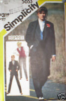 Vintage Simplicity Pattern Shirt Trousers Jacket 12 SEW
