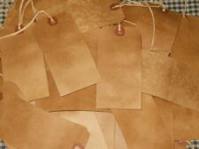 50 LARGE pRiMiTiVe Coffee Stained price gift crafts handmade Hang Tags rustic