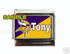 Minnesota Vikings w/ Any Name Custom Italian Charm NFL
