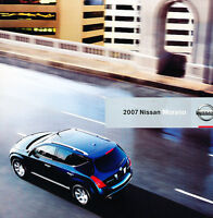 2007 Nissan Murano Sales Brochure Catalog Book
