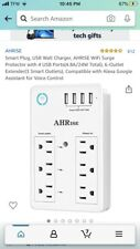 WiFi Surge Protector Smart USB Wall Charger 6 Multi Plug Outlet Adapter Extender