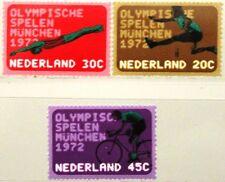 NETHERLANDS NIEDERLANDE 1972 991-93 499-01 Olympics München Bicycling Sport MNH