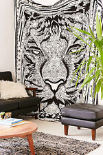 Cotton Tiger Face Mandala Tapestry Wall Hanging Home Decor Ethnic Bed Sheet Art