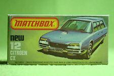 Modellauto - Matchbox - Superfast - Nr. 12 Citroen CX - OVP