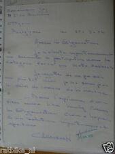 HT118-ORIGINAL AUTOGRAPH GUY COOREMANS BELGIUM,SIGNATURE,AUTOGRAMM,1972