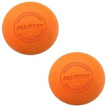 New Martin 2 Pack Official Lacrosse Balls NFHS NCAA & NOCSAE Approved Orange