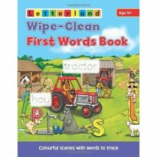 Wipe Clean First Words Book (Letterland Wipe Clean Books),Holt, Lisa,New Book mo