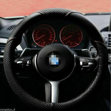 15'' 37-38cm Universal Car Steering Wheel Cover Non-slip PU Leather Soft Grip UK