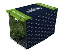 NFL Seattle Seahawks Quilted Pet Crate / Cage Cover in Sizes Large or X-Large