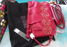 STORM - RED DAISY CLUTCH HANDBAG WITH LONG HANDLE - BRAND NEW TAGS