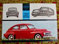 Volvo PV 544 Special De Luxe Buckel 1961 US Brochure Prospekt TOP neuwertig