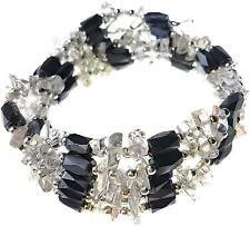 Edle Magnetkette mit Bergkristall Armband Schmuck Hals auch Therapie NEU 100 cm