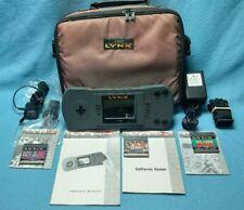 Atari Lynx Model 1 Console Original Adapter carrying bag 3 Games