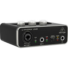 Behringer Um2 - interface de audio Usb/usb 2.0 sampleado 48 kHz