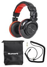 Numark Red Wave Carbon Pro Full-Range Mixing DJ Headphones+Pouch Redwave