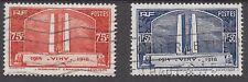 FRANCE SG 549/50 VIMY RIDGE CANADIAN MEMORIAL FINE USED 1936.