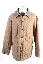 Vintage Barbour Eskdale Quilted Mens Coat Jacket Retro UK Size XL Cream - C1809