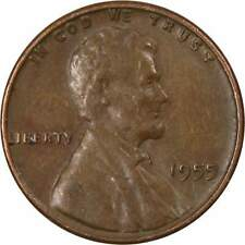 1955 Lincoln Wheat Cent AG About Good Bronze Penny 1c Coin Collectible