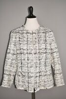 LAFAYETTE 148 NEW YORK NEW $948 Noelle Tweed Jacket in Black Multi Size 14W
