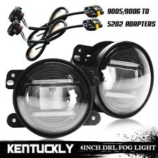 "4""INCH DRL LED FOG LIGHT 30W 9005/9006-5202 ADAPTER FOR 2011 2012 Dodge Charger"