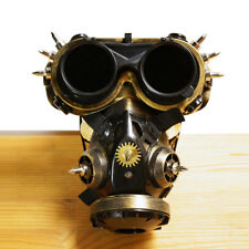 Steam Punk Mask Steampunk Gas Mask with Goggles Unisex Cosplay Halloween Mask