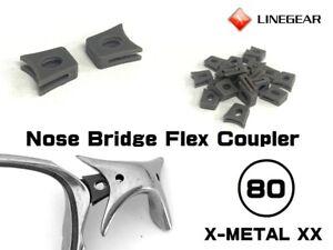 LINEGEAR Nose Bridge Flex Coupler for Oakley X-Metal XX - 2 pcs [NBFC80-DG]