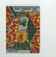 2020 Mosaic NFL Debut Reactive Gold Prizm Jordan Love Rookie Card #264 Packers