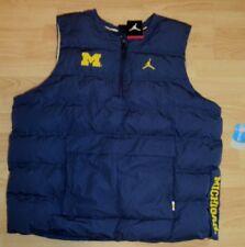 Air Jordan Michigan Wolverines Team 1/4 Zip Pullover Vest Jacket Size Mens Large