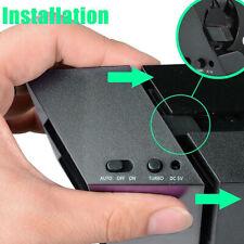 For PS4 Turbo Cooling Fan External USB Cooler w/ Auto Temperature Sensor Control