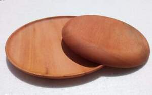 Handmade Natural Wooden Washable Round Plate/ Tray/ Serving Dish
