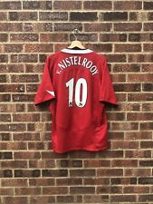 MANCHESTER UNITED 2004/2006 HOME FOOTBALL SHIRT - #10 NISTELROOY - XL