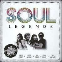SOUL LEGENDS Various Artists NEW & SEALED 3CD TIN CASE Classic Soul 60s 70s R&B