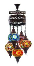 HANDMADE TURKISH MOSAIC LAMP 5 GLOBS