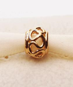 Genuine Pandora 14ct. Gold Intertwined Charm  - 750452 - retired