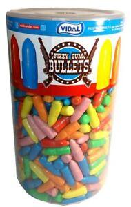 Vidal Fizzy Gum Bullets (600 pc jar)
