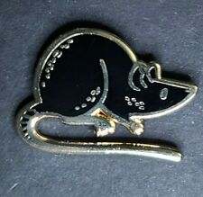 Black Rat Mouse Pin Broach Button #Lcps