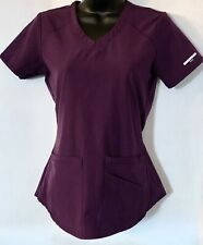 Sketchers by Barco Nursing medical scrub shirt blouse top Purple XXS