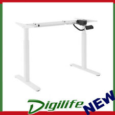 Brateck 2-Stage Motor Electric Sit-Stand Desk Frame with Control Panel - White