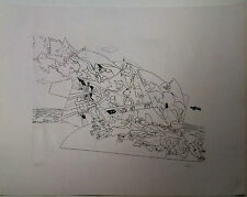 ENNIO CALABRIA incisione acquaforte 50x70 firmata numerata stampatore Caprini