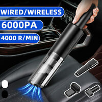 120W 6000PA Portable Corded/Cordless Car Vacuum Cleaner Home Powerful
