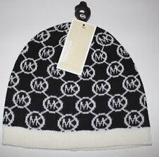 Michael Kors Ladies Signature MK Beanie Hat One Size Black