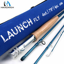 Maxcatch 7'8'' #4WT Youth Kids Fly Fishing Rod Medium Fast Graphite IM8 Teenager