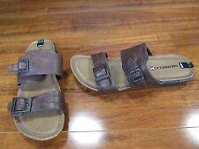 NEW Merrell Whisper Slide Sandals WOMENS sz 6 Brown Leather J5580 $90.
