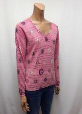 Lange Damen-Pullover & -Strickware mit V-Ausschnitt und geometrischem Muster